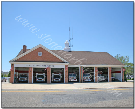 Firehouse with doors open