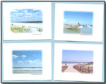 Boxed set of 8 beach Note cards